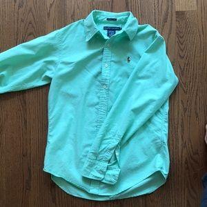 POLO mint button down shirt by Ralph Lauren